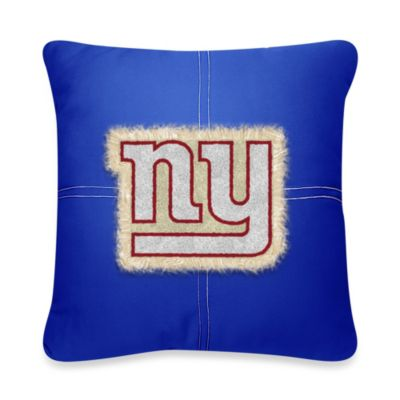 NFL New York Giants 18-Inch Letterman Throw Pillow