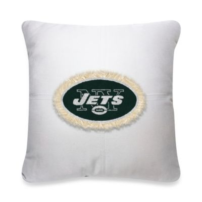 NFL New York Jets 18-Inch Letterman Toss Pillow