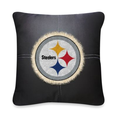 NFL Pittsburgh Steelers 18-Inch Letterman Toss Pillow