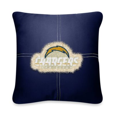 NFL San Diego Chargers 18-Inch Letterman Toss Pillow