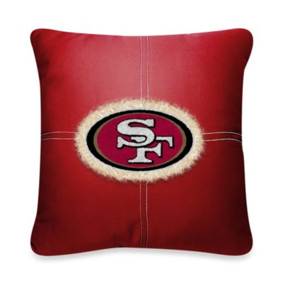 NFL San Francisco 49ers 18-Inch Letterman Throw Pillow