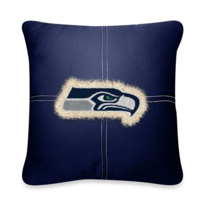 NFL Seattle Seahawks 18-Inch Letterman Throw Pillow