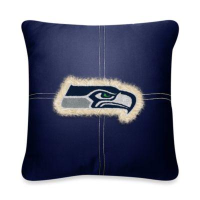 NFL Seattle Seahawks 18-Inch Letterman Toss Pillow
