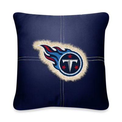 NFL Tennessee Titans 18-Inch Letterman Toss Pillow