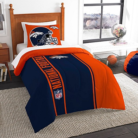 Buy Nfl Denver Broncos Twin Embroidered Comforter Set From