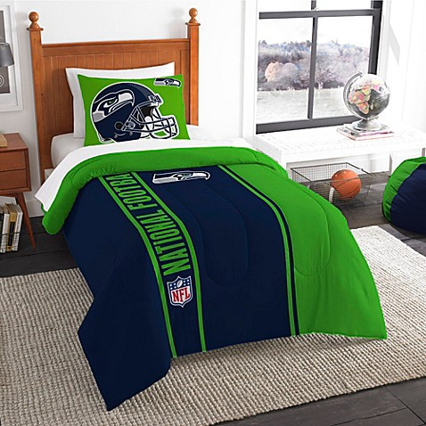 seattle seahawks twin embroidered comforter set from bed bath beyond