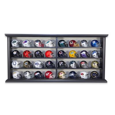 NFL League Helmet Set in Wood Display