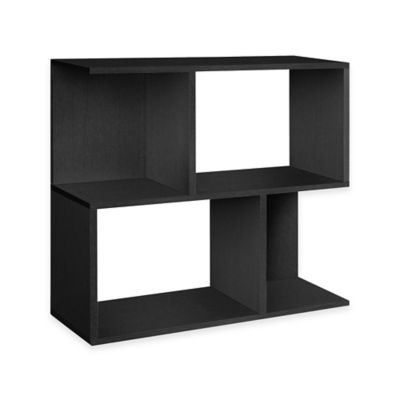 Way Basics Soho 3-Shelf Storage Unit and Bookcase in Black