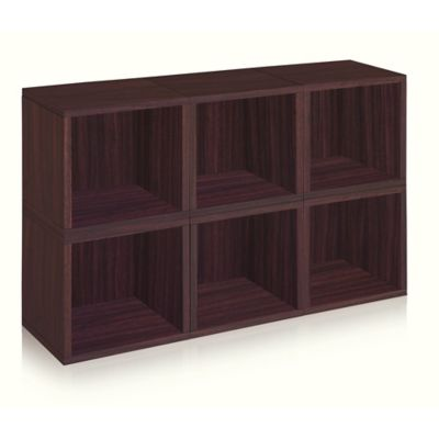 Way Basics® Storage Cubes and Bookcase in Espresso (Set of 6)