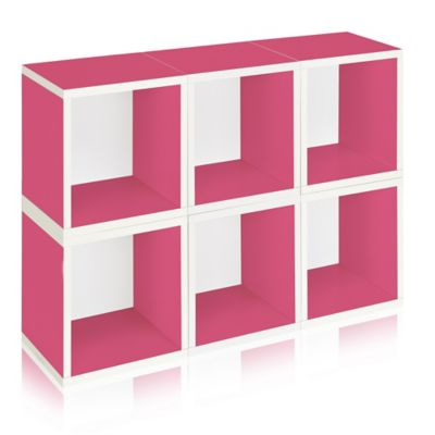 Way Basics Storage Cubes Plus 6-Pack in Pink