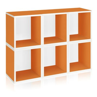 Way Basics® Storage Cubes Plus in Orange (Set of 6)