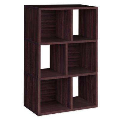 Way Basics Laguna 3-Shelf Bookcase in Espresso