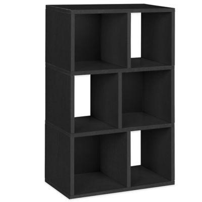 Way Basics Laguna 3-Shelf Bookcase in Black