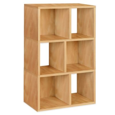 Way Basics Laguna 3-Shelf Bookcase in Natural
