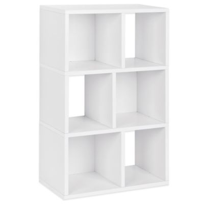 Way Basics Laguna 3-Shelf Bookcase in White