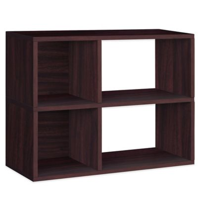 Way Basics 2-Shelf Chelsea Bookcase in Espresso