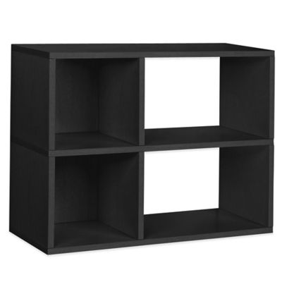 Way Basics 2-Shelf Chelsea Bookcase in Black