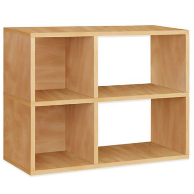 Way Basics 2-Shelf Chelsea Bookcase in Natural
