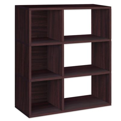 Way Basics 3-Shelf Sutton Bookcase in Espresso