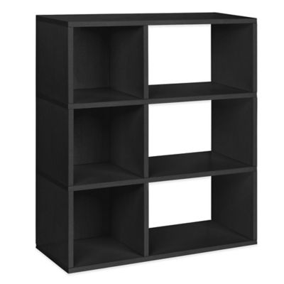 Way Basics 3-Shelf Sutton Bookcase in Black