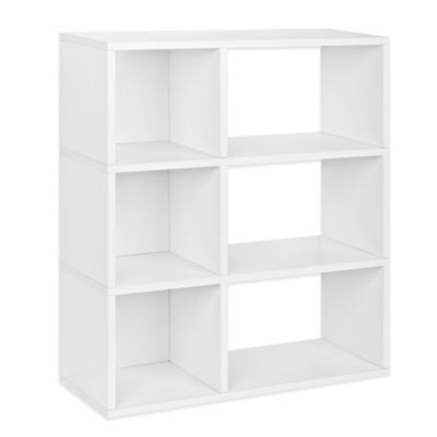 Way Basics 3-Shelf Sutton Bookcase in White
