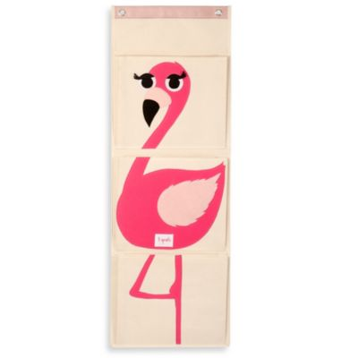 3 Sprouts Flamingo Wall Organizer