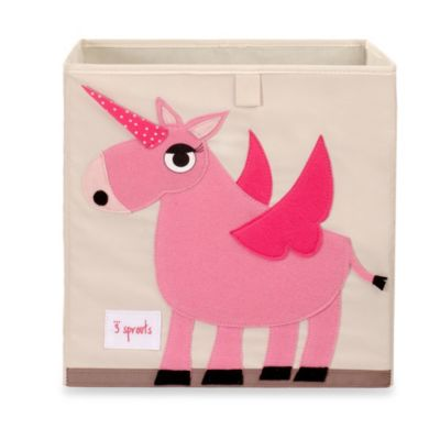 3 Sprouts Unicorn Storage Box