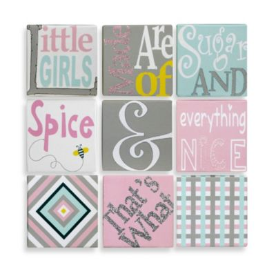 9-Piece Sugar & Spice Canvas Wall Art