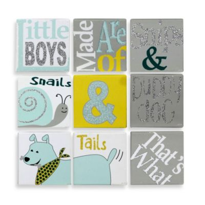 9-Piece Puppy Dog & Tails Canvas Wall Art