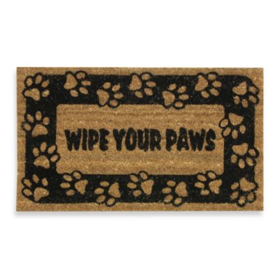 Wipe Your Paws Door Mat