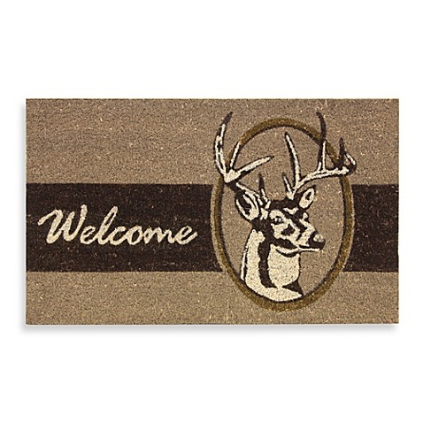 Deer Welcome Door Mat Bed Bath Amp Beyond