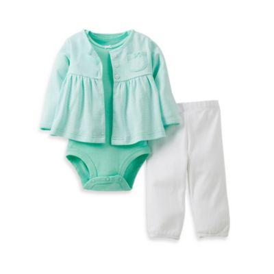 Carter's® Newborn 3-Piece Mint Stripe Pant Set