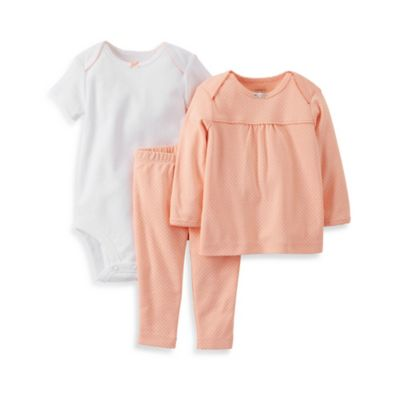Carter's® Size 9M 3-Piece Balloons Pant Set in Coral Dot