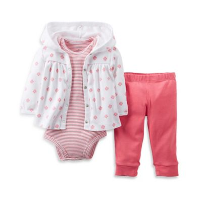 Carter's® 3-Piece Hooded Pant Set in Pink