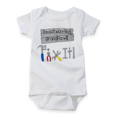 Sara Kety® Grandpa Fix It! Size 0-6M Bodysuit