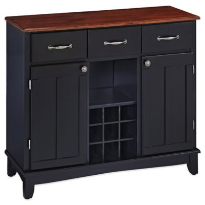 Home Styles Large Server With Wood Top in Cherry