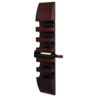 Six-Bottle Wooden Wine Holder