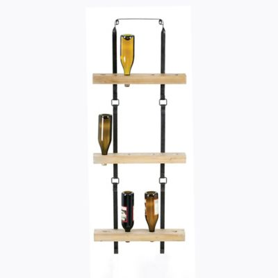 Metal and Wood Wine Rack