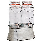 Home Essentials & Beyond Double 1-Gallon Del Sol Jugs on Galvanized Metal Base
