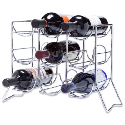 Oenophilia Scaffovino 9-Bottle Counter Wine Rack