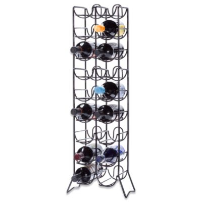 Oenophilia Scaffovino 18-Bottle Floor Wine Rack in Black