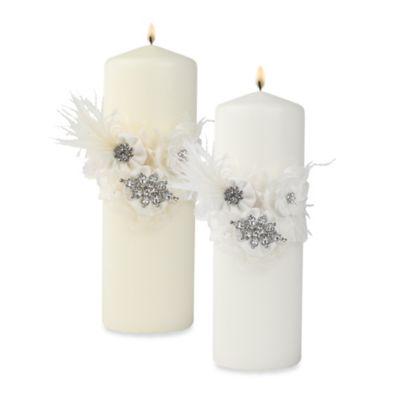 Ivy Lane Design™ Genevieve Pillar Candle in White