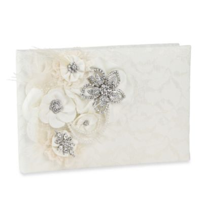 Ivy Lane Design™ Genevieve Guest Book in Ivory