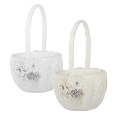 Ivy Lane Design™ Genevieve Flower Girl Basket in White