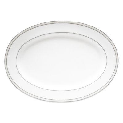 Nikko Platinum Beaded Pearl 14.25-Inch Oval Platter