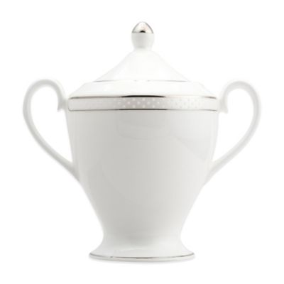 Nikko Platinum Beaded Pearl Covered Sugar Bowl