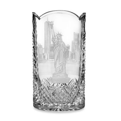 Waterford® Copper Wheel Engraved Statue of Liberty Crystal Oval Vase