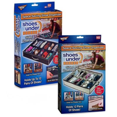 Shoes Under™ Shoe Storage Organizer in Tan/Brown