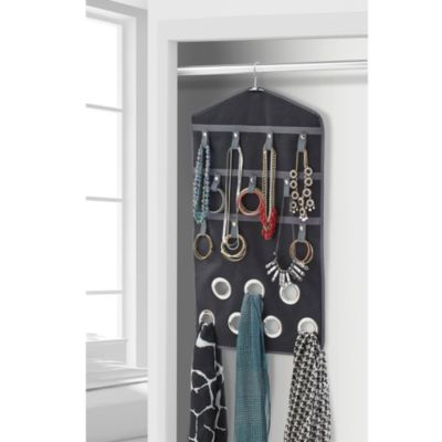 Studio 3B™ Multi-functional Jewlery/Scarf/Accessory Organizer in Black