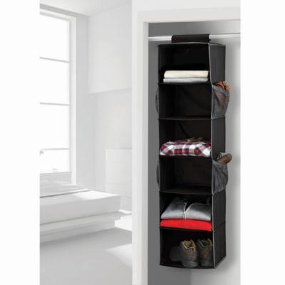 Studio 3B™ 6-Shelf Sweater Organizer in Black